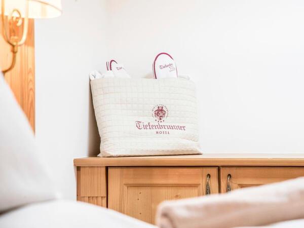 Luxury Suite detail at Tiefenbrunner Hotel in Kitzbühel, Austria
