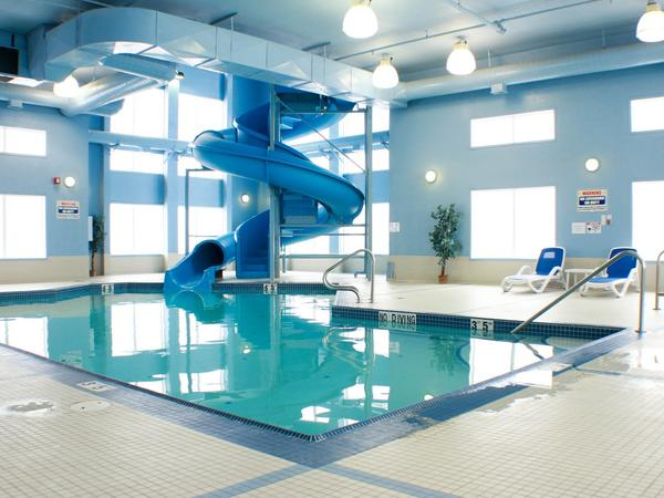 Indoor pool with slide