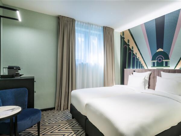 Twin room at Hotel Hubert Brussels near Grand Place