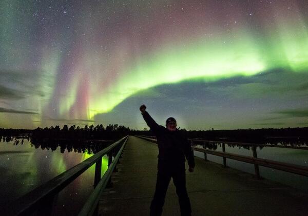Aurora Borealis views from Northern Lights Village in Saariselkä