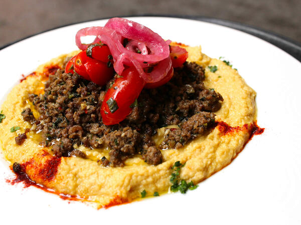 Small platter of hummus
