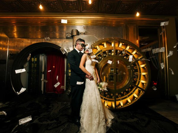 Wedding outside The Vault