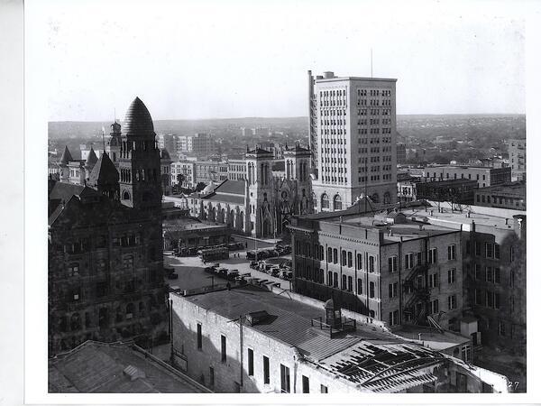 Vintage photo of San Antonio skyline
