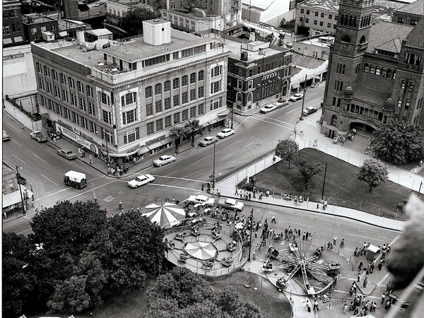 Vintage aerial photo of San Antonio