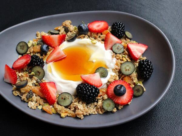 Complimentary breakfast platter for RSRV guests