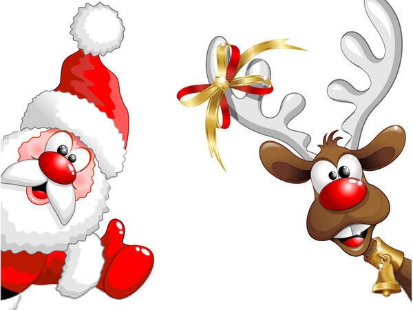 Santa Reindeer Holiday Celebration