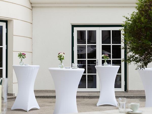 Terrace at Romantik Hotel Schloss Pichlarn, Austria