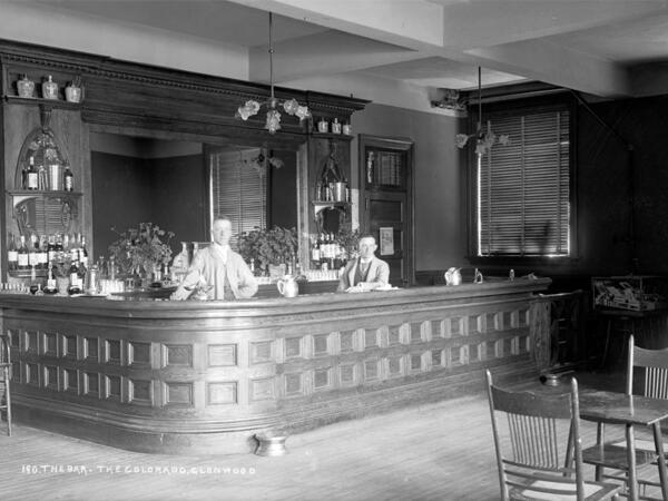 Vintage photo of hotel bar
