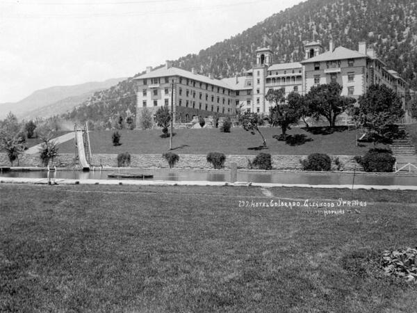 Vintage photo of Hotel Colorado exterior