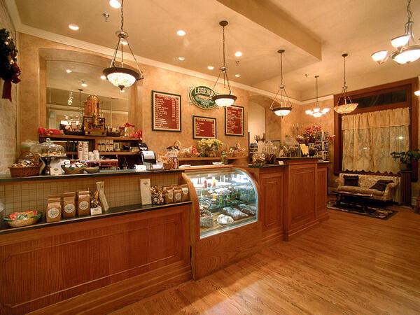 Interior of Legends Coffee Shop