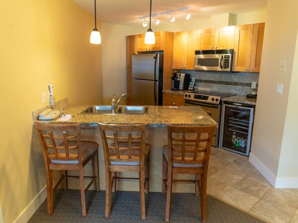 two bedroom suite kitchen dining