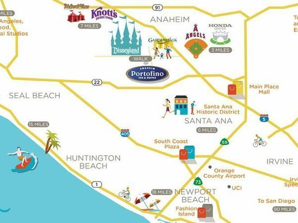 Anaheim Portofino Inn & Suites - Walking Distance to Disneyland® on fantasmic map, cars land map, the walt disney company map, good neighborhood hotel map, good neighbor hotels anaheim, good neighbor resorts, home map, walt disney world map,