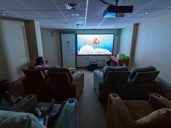 private movie theater room