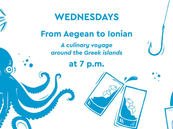 From Aegean to Ionian cuisine Wednesdays at Agapi Beach Resort i