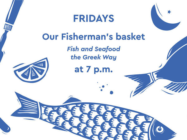 Fisherman's basket Fridays at Agapi Beach Resort in Crete