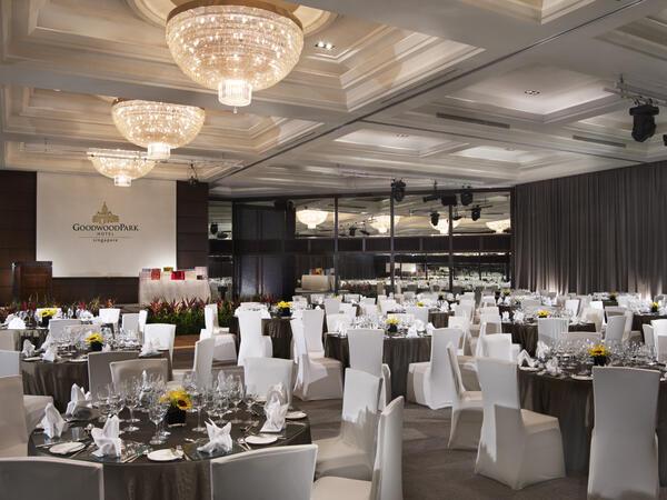 Windsor Ballroom Dinner set up at Goodwood Park Hotel Singapore