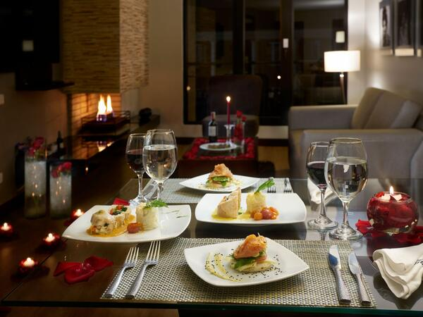 Romantic Night Dinner for Two inside suite