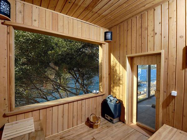 Sauna at Sarpedor Boutique Beach Hotel in Bodrum, Turkey