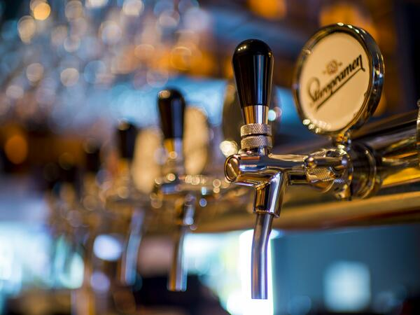 Beer Taps at Lodge Bar & Cafe - Yarra Valley Lodge