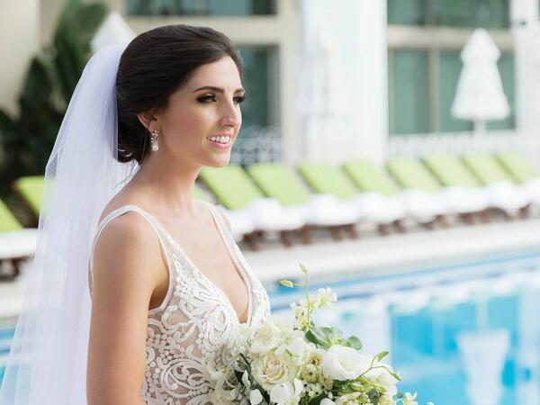 Bride by the Pool
