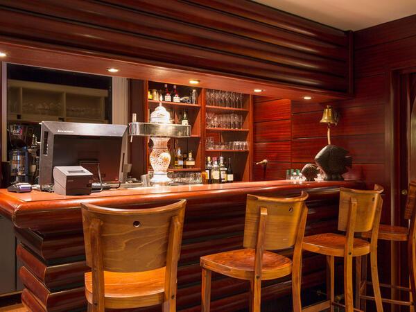 Bar at Ar Men Du Hotel in Névez, Brittany