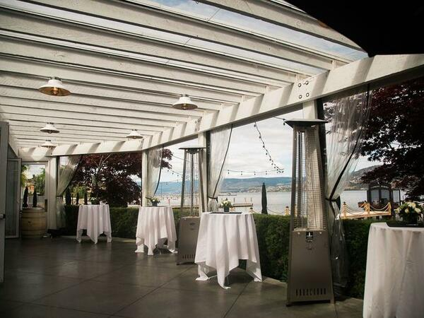 wedding venue with view of lake