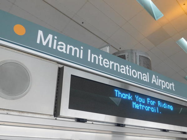Signage at the airport of MIA