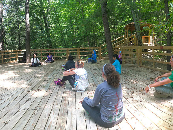 Guided outdoor meditation