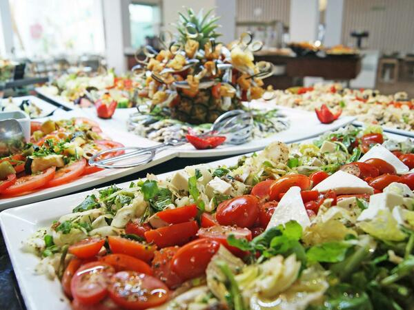 Different Salads At Labranda Bahia De Lobos Restaurant