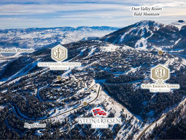 Stein Eriksen Estates Aerial Labeled Map