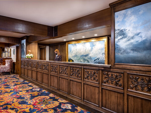 Stein Eriksen Lodge Mountain Lodge Concierge Masked Team Member