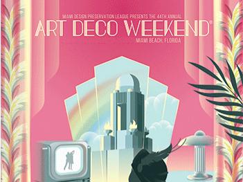 Art Deco  weekend 2021 poster
