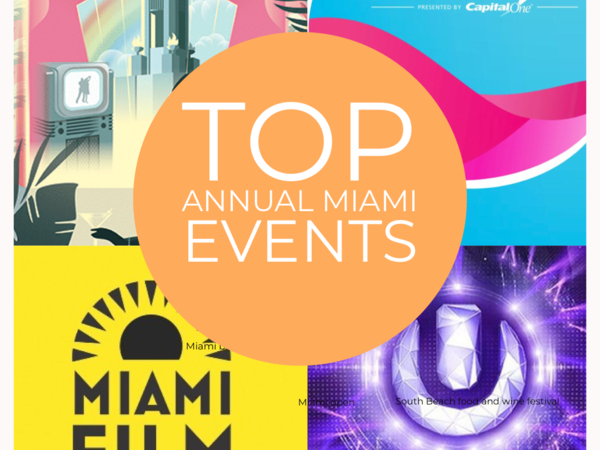 A collage of Top annual Miami events