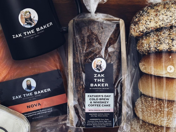Collection of bread/bagel items from Zak the Baker