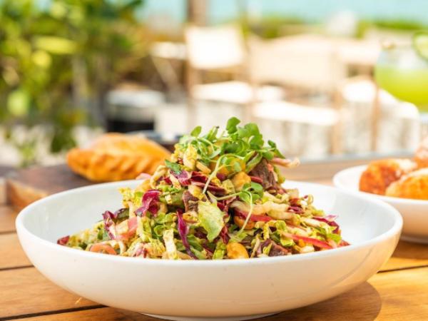 salad at Michael Schwartz's Amara at Paraiso