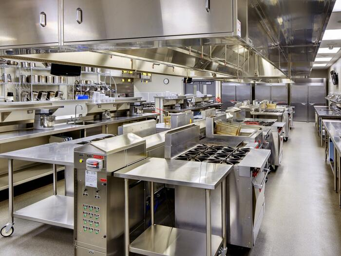 Large kitchen used for culinary lab