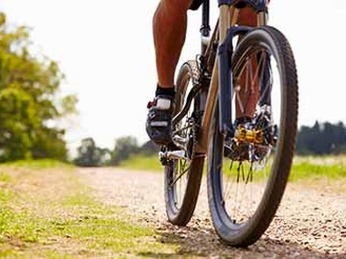 Mountain bike on a trail