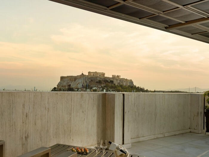 acropolis view from NJV Athens Plaza hotel