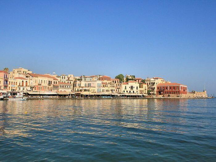 Old Venetian Harbour in Chania, Greece