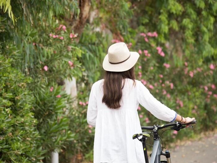Bike and gardens at Cretan Malia Park