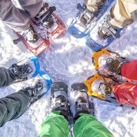 Raquette neige randonnée activités hotel les gentianettes