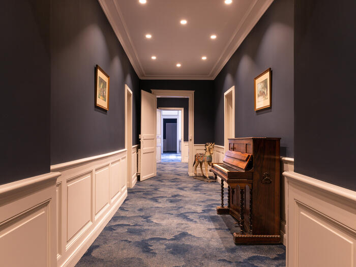 Corridor at Hotel Anne d'Anjou in Saumur, France