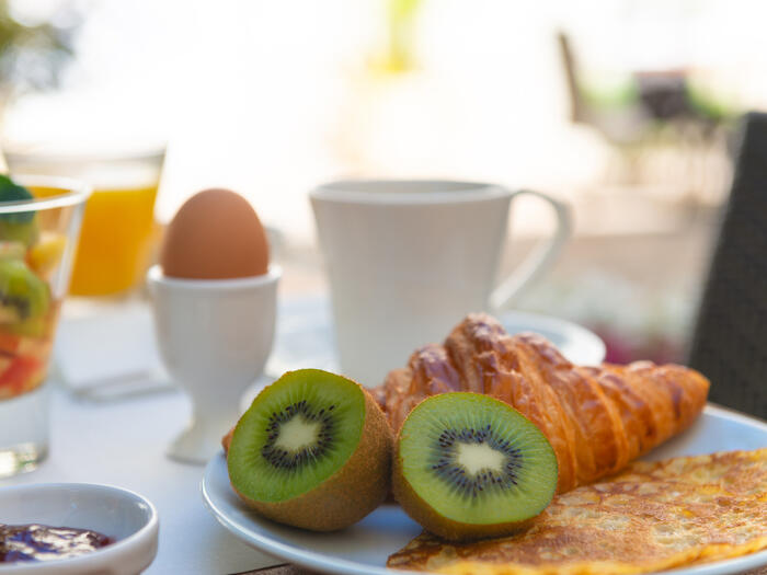 Breakfast at Hotel Anne d'Anjou in Saumur, France