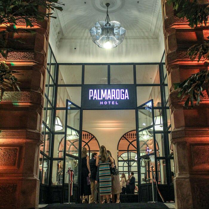 Palmaroga Hotel Entrance at Night