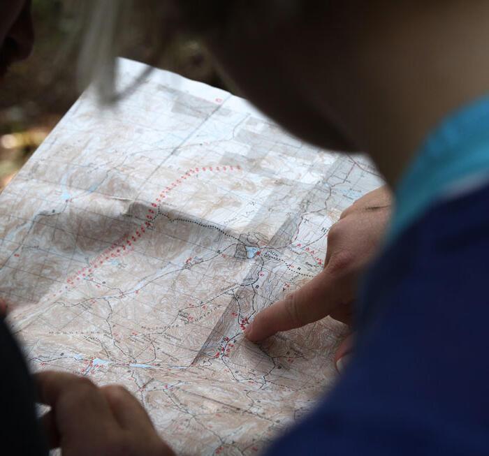 carte des randonnées dans la région de Thiers