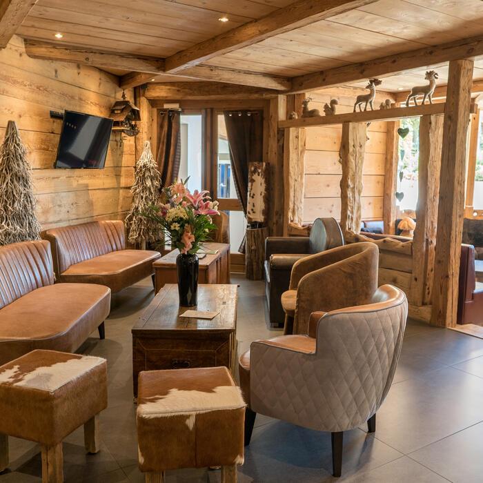 Premier salon avec canapés et fauteuils