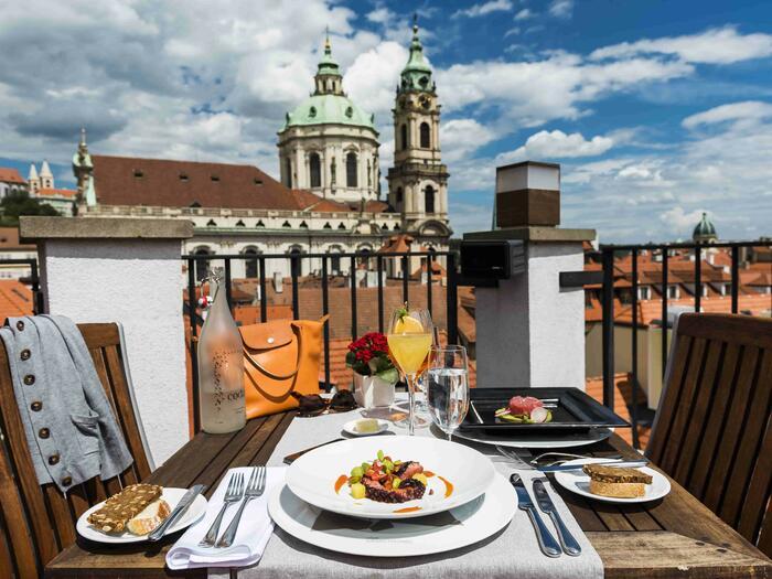 CODA Restaurant at Golden Well Hotel in Prague