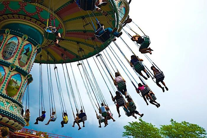 large carnival swing ride