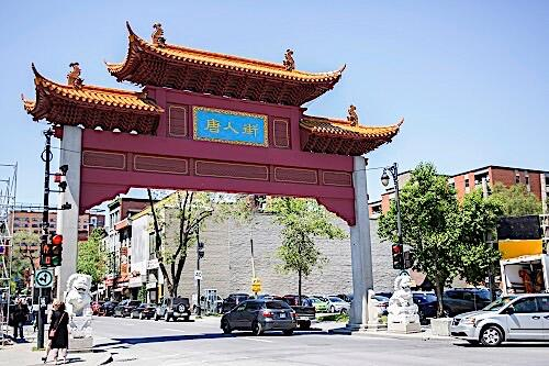 Chinese architecture in city