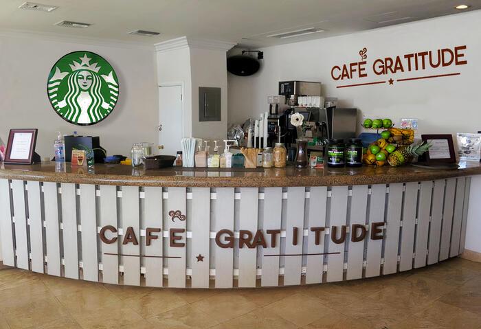 Reception of Starbucks Café at Cabo Villas Beach Resort